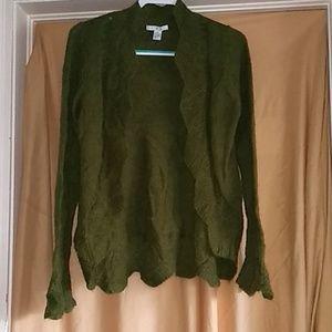 CAbi Mohair Cardigan Sweater Size M